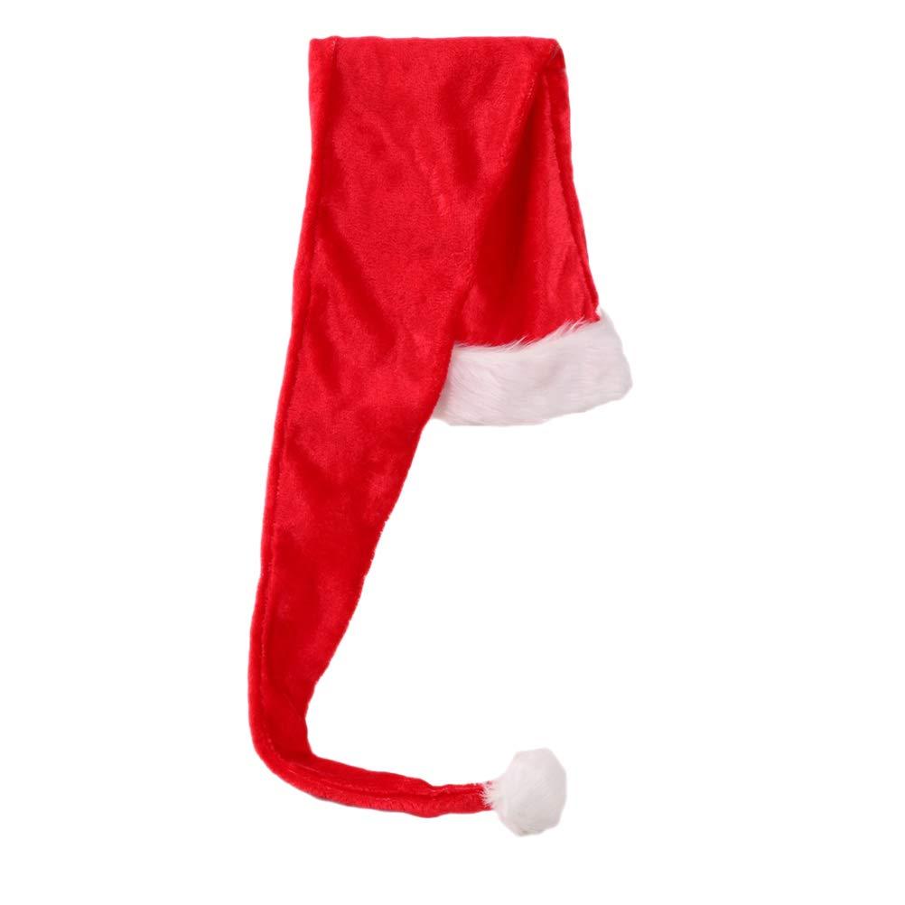 Amosfun Santa Claus Hat Santa Long Hat Christmas Xmas Flush Headdress Christmas Costumes Party Favors Photo Prop for Children