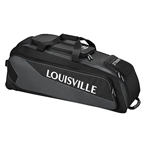 Louisville Slugger Prime Rig Wheeled Bag - Black/Charcoal