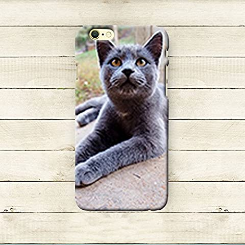 iphone6/6s iPhone 7 Case Cute,iPhone 7 Case Cool, Anti-Scratch Slim Flexible Rubber Cases Cover for Apple iPhone 7 4.7 Inch, Creative,042.140 Gray, Cat, Pet, Porch, (Iphone6 Porch)