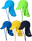 Vaenait baby Infant & Kids Boys Sun Protection Sporty Flap Swim Hat UV Flap Cap Lime Green S