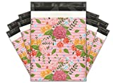 10x13 (100) Floral Roses Designer Poly Mailers Shipping Envelopes Premium Printed Bags