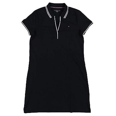 Tommy Hilfiger Abby Vestido Polo para Mujer - Negro - X-Small ...
