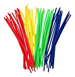 50 Primay Coloured 6mm X 300mm Fluffy Pipe Cleaners