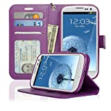 Navor Samsung Galaxy S3 Deluxe Book Style Folio Wallet Case (Purple)