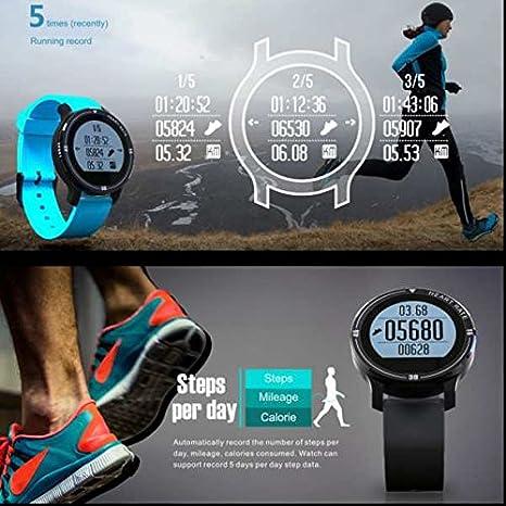 Al aire libre Fitness deporte reloj, Multi zona horaria, contador de calorías deporte gps reloj inteligente, diseño simple fashion, llamada y mensaje de ...