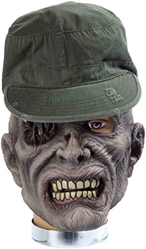 Forum Novelties Zombie Mask with Hat, Sarge -