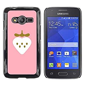 TopCaseStore / la caja del caucho duro de la cubierta de protección de la piel - Gold Bling Heart - Samsung Galaxy Ace 4 G313 SM-G313F