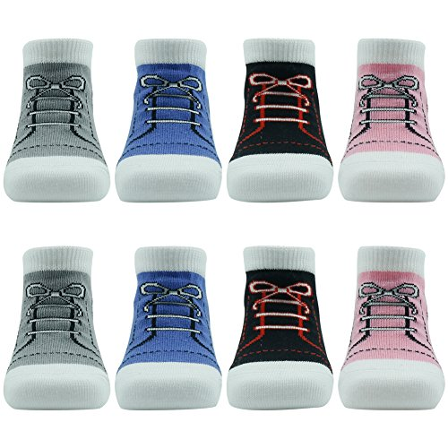 Comifun Infants Toddler Baby Boys Girls Newborn Kids Stretchy Comfortable Cute Lovely Colorful Christmas Socks 8 Pairs