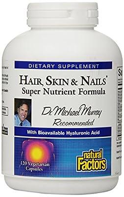 Natural Factors Hair, Skin and Nails Veg-Capsules, 120-Count