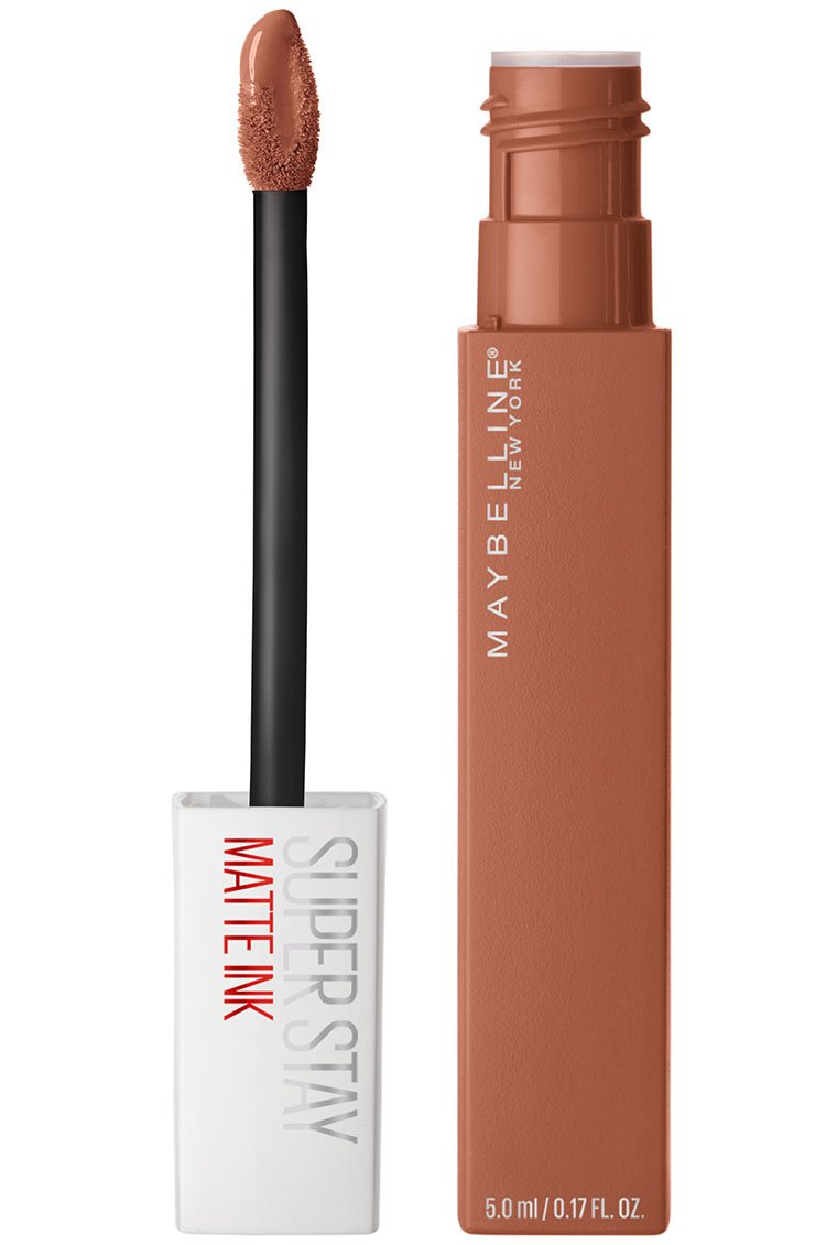 Maybelline Makeup SuperStay Matte Ink Liquid Lipstick, Fighter Nude Matte Lipstick, 0.17 fl oz