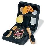 eBuyGB Shoe Shine Polish Kit in Travel Case - 8 Piece Brush Kit (Black and Neutral)