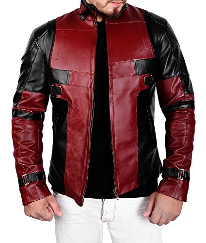 Abbracci Red and Maroon Mens Motorcycle Biker Outerwear