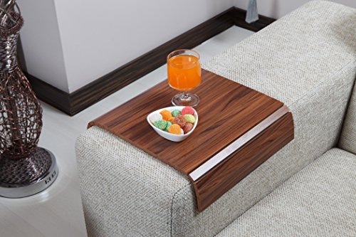 Sofa Tray Table ( Canadian Walnut ), Sofa Arm Tray, Armrest Tray, Sofa Arm Table, Couch Tray, Coffee Table, Sofa Table, Wood (Sofa Arm Tray)