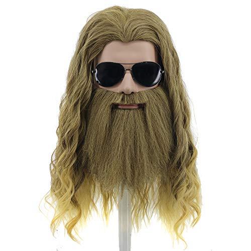 yuehong Long Blonde Wig Thor Endgame Wig Men Halloween Cosplay Hair Wigs - http://coolthings.us