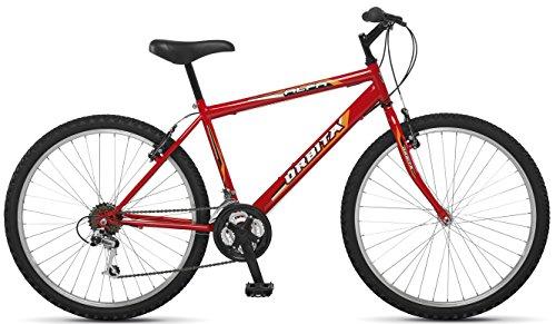 """Orbita Alfa 24″ – Bicicleta BTT de montaña para niño, 18 velocidades, Cuadro 14"""" Acero, Frenos V-Brake, (9-12 años)"""