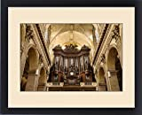Framed Print of Pipe Organ pipes in Eglise Saint Sulpice, Saint-Germain-des-Pres, Paris France