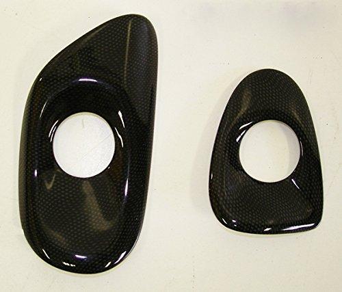 Performance Corvettes 2010-2013 Corvette C6 Carbon Fiber HydroGraphics Door Release Bezels Pattern ()