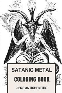 Satanic Metal Coloring Book Norwegian Black And Antichrist Burzum Inspired Adult