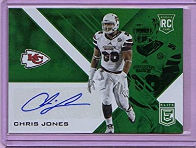 78eb9d17e 2016 Elite Rookie Autographs Green  16 Chris Jones - Rookie Year at  Amazon s Sports Collectibles Store