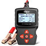VIDENT iBT100 Car Battery Tester 12V Battery Analyzer for Flooded, AGM,Gel 100-1100 CCA Automotive Tester for Passenger Cars and Light Duty Trucks