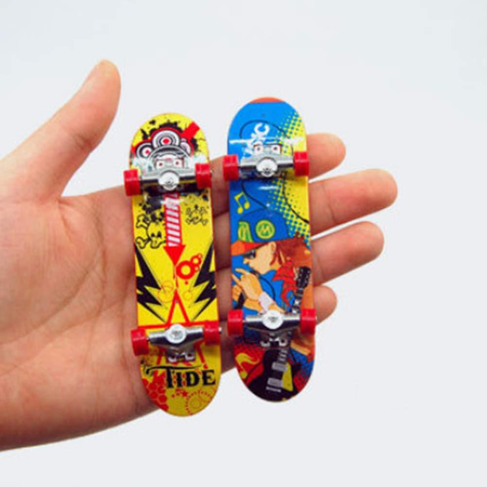 LIOOBO 5 unids Mini Diapasón Dedo Patineta Juguete Cubierta Camión Tablero de Dedos Regalo de los niños Color al Azar