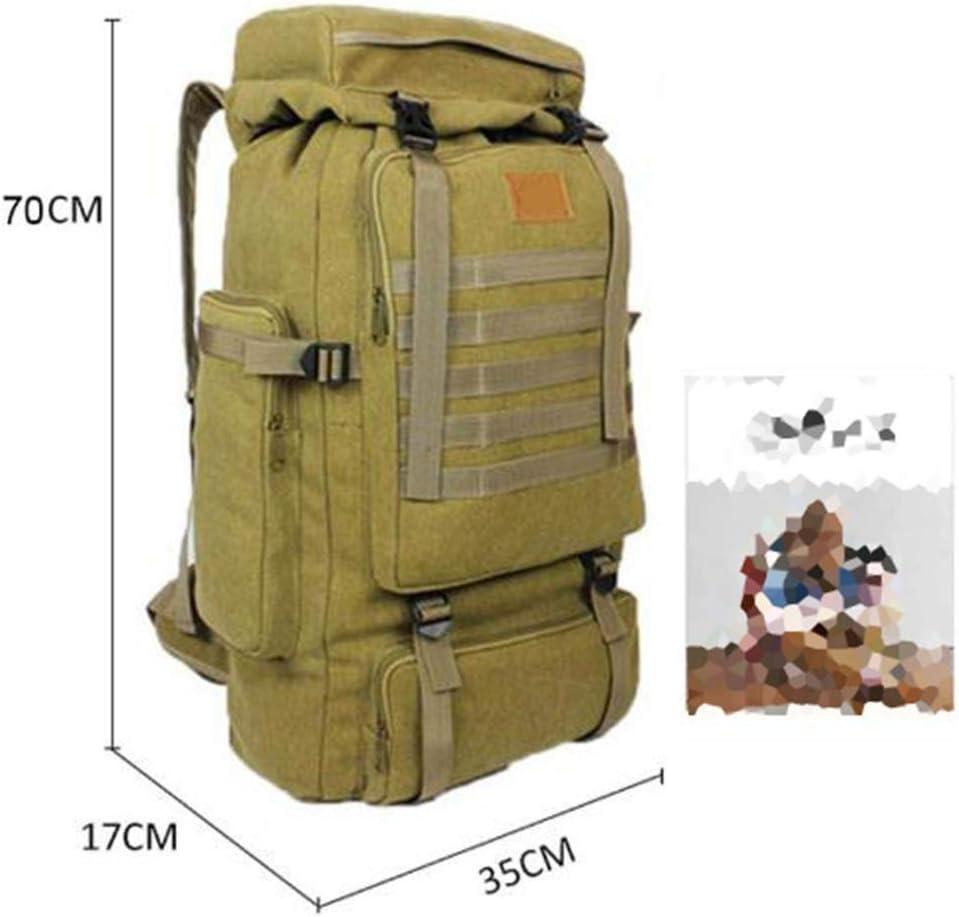 Mochila Senderismo Yuan Ou 70L Lona Grande Que acampa Mochilas Mochilas Bolsas de Escalada Senderismo Viajes al Aire Libre Style2Negro yLTsDt