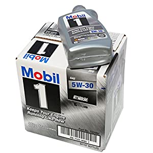 Mobil 1 94001 5W-30 Synthetic Motor Oil - 1 Quart (Pack of 6)
