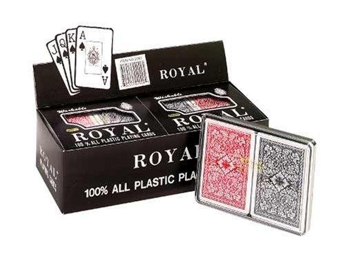 Royal 100% Plastic Big# Bridge Double Decks Display, Pack of 6