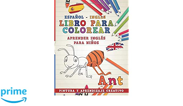Libro para colorear Español - Inglés I Aprender inglés para niños I ...