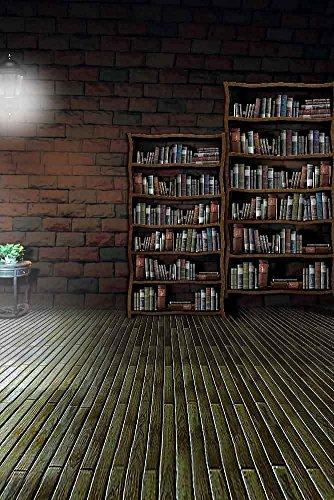 GladsBuy Silent Bookshelves 8' x 12' Digital Printed Photography Backdrop Bookshelf Theme Background YHA-266 (Foot 8 Tall Bookshelves)