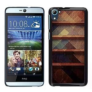 EJOY---Cubierta de la caja de protección para la piel dura ** HTC Desire D826 ** --Rústico Oscuro Pastel Colores Patrón