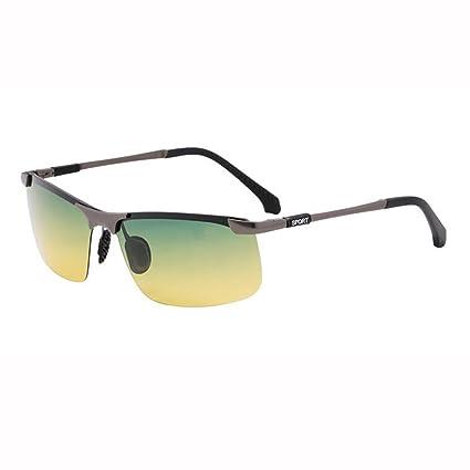 ZX Día Y Noche Uso Dual Luz Polarizada Manejar Gafas De Sol Hombres Anti-UV