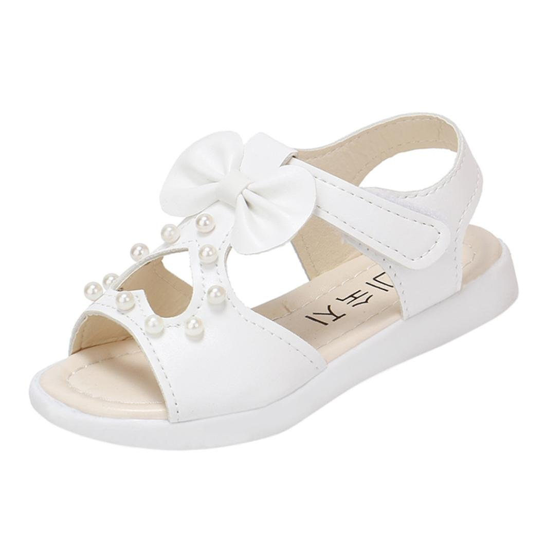 Hot Sale!Summer Sandals,Todaies Kids Children Sandals Fashion Big Bowknot Girls Flat Pricness Shoes 2018 (US:6.5, White 2)