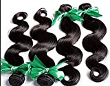 Goood Hair Rosa Hair Products Brazilian Virgin Hair Extension,4 Bundles Rosa Hair Company Brazilian Body Wave Human Hair Weave 50g/ps 4pcs/ Lot (24 26 28 28)
