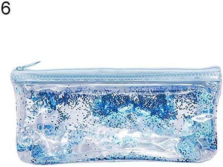 WFZ17 Estuche para lápices de Oficina y Escuela, Bolsa de líquido, Estuche Transparente con Cremallera, Organizador de papelería: Amazon.es: Hogar
