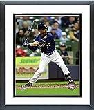 "Jonathan Lucroy Milwaukee Brewers 2016 MLB Action Photo (Size: 12.5"" x 15.5"") Framed"