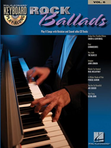 ROCK BALLADS VOLUME 6 BK/CD (Hal Leonard Keyboard Play-Along) Bridge Over Troubled Water Piano