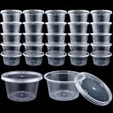 40 Pack Big Size Clear Slime Foam Ball Big Storage Containers with Lids