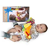 Tummbino Diaper Changing Made Easy, Distraction Baby Toy Interactive Toy Belt for Babies   Lights Up and Plays Music to Keep Your Child Occupied and Happy   Great Newborn and Infant Shower Gift Idea