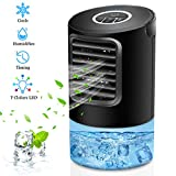 OVPPH Portable Air Conditioner Fan, Personal Fan Desk Fan Space Air Cooler Mini