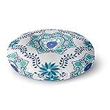 KESS InHouse Anneline Sophia Let's Dance Blue Teal Aqua Round Floor Pillow, 26''