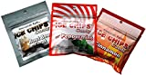 New! Ice Chips Candy in Resealable Pouches (3 Pack Variety) Rootbeer Float, Cinnamon & Peppermint