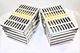 10 GERMAN DENTAL SURGICAL AUTOCLAVE STERILIZATION CASSETTE BOX FOR 10 INSTRUMENT YELLOW ( CYNAMED )