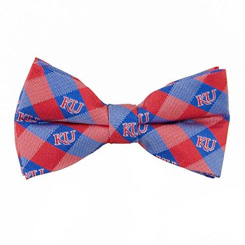 Kansas Jayhawks Checked Logo Bow Tie - NCAA College Team -