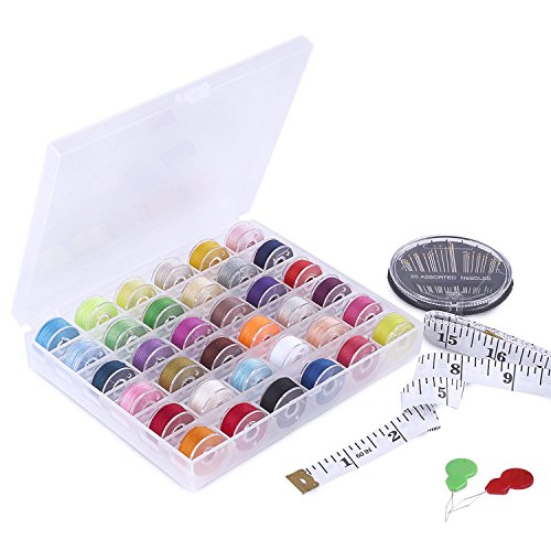 SOLEDI Sewing Threads Sewing Kit Perfect for Daily Repair or Mend, DIY Projects Crafts (36 Pcs Bobbins and Sewing Thread)
