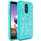 LG Stylo 4 Case, LG Stylo 4 Plus Case, GORGCASE Fashion Cute Sparkly Bling Dual Layer Shockproof Hybird Luxury Shinning Protective Case Cover for LG Stylo4 (Teal)