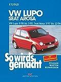 So wird's gemacht. VW Lupo 9/98 bis 3/05, Seat Arosa 3/97 bis 12/04: Benziner 1,0 l/37 kW (50 PS) ab 3/97, 1,4 l/44 kW (60 PS) ab 3/97, 1,4 l/55 kW ... (75 PS) ab 5/99, 1,7 l/44 kW (60 PS) ab 9/97