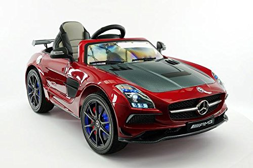 (LICENSED MERCEDES SLS AMG FINAL EDITION 12V Kids Ride-On Car MP3+MP4 Color LCD Battery Powered RC Parental Remote + 5 Point Safety Harness (Limited Edition))