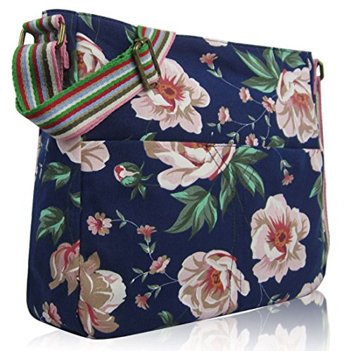 Top Flower Anchor Tote Design Crossbody Kukubird Blue Animal Crossbody Umbrella Dark Handle And Handbag Bag Various Shoulder w0qxOEx8