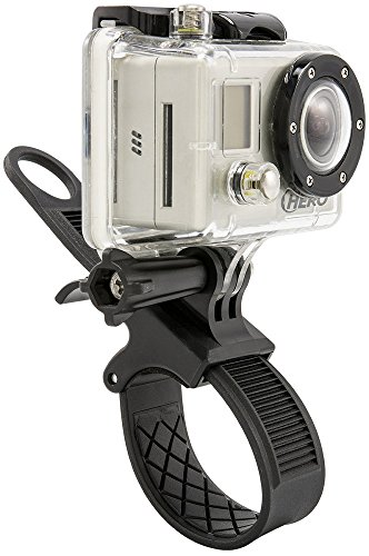 Arkon GP234 GoPro Bike or Motorcycle Handlebar Strap Mount for GoPro HERO Action Cameras Retail Black